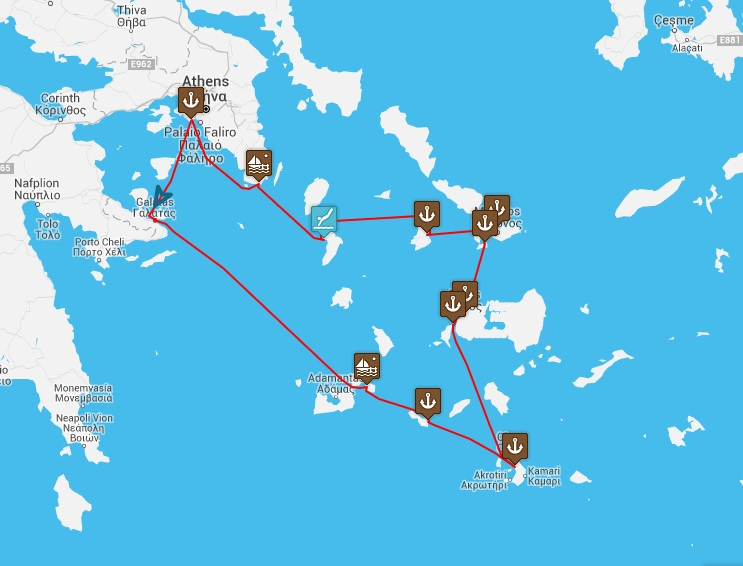Enjoy Sailing Holidays In Greece Jewels Of The Cyclades Sail - Greek island cruises